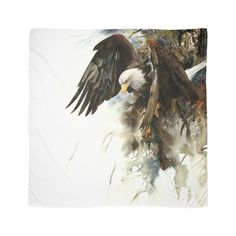 """""""High and Mighty"""" Watercolor by Peter Williams - Bald Eagle Wildlife Paintings, Wildlife Art, Animal Paintings, Watercolor Bird, Watercolor Animals, Watercolor Paintings, Watercolors, Eagle Painting, Eagle Pictures"""