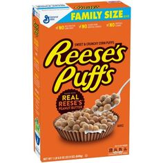 Reese's Peanut Butter Puffs Cereal 22.9 oz Box
