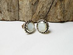 Classic Sterling Silver Mother Pearl Round Dome Earrings,Shell Earring,Pierced Earring,Mother Parl Earring,Personalized Gifts,Gifts For Her by Supsilver on Etsy