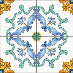 DecoriVietresi #Cevi albori Textile Patterns, Print Patterns, Art Nouveau Pattern, Italian Tiles, Antique Tiles, Tile Murals, Portuguese Tiles, Glazes For Pottery, Decorative Tile