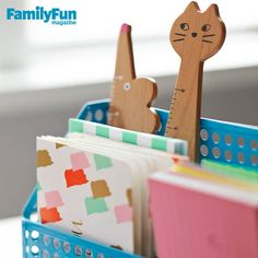 Use Study Tools That Rule: Stow flash cards and sticky notes in paper sorters; add fun with supercute gadgets, such as these rulers.