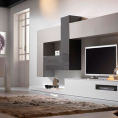 17 Outstanding Ideas For TV Shelves To Design More Attractive Living Room. Lots of good ideas Living Room Tv, Living Room Modern, Home And Living, Living Room Designs, Living Room Furniture, Living Spaces, Tv Wall Design, Tv Unit Design, House Design