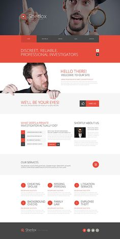Take a closer look at this Private Investigation Website Template ( and you will fall in love with it. Clean, professional and simple design. Business Website Templates, Free Website Templates, Newsletter Layout, Newsletter Design, Web Design, Page Design, Website Themes, Website Designs, Website Ideas