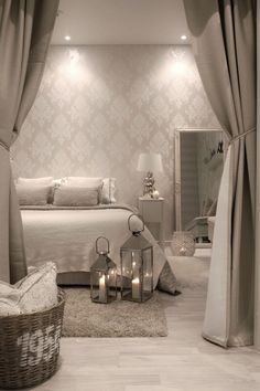 Gorgeous Bedroom Ideas, From sweet to captivating decor styling strategies. For extra superb room styling information please press the link to study the post idea 2536294303 now. Dream Bedroom, Home Decor Bedroom, Bedroom Ideas, Bedroom Designs, Room Interior, Interior Design, Luxury Decor, Luxurious Bedrooms, Beautiful Bedrooms