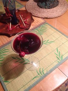It's a BBC (bluberry, brandy and cherry) martini for a blue sunday