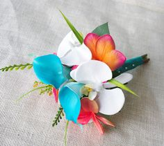 Wedding Coral Orange and Turquoise Teal Natural Touch by Wedideas, $47.00