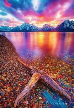 Jackson Lake is located in north western Wyoming in Grand Teton National Park