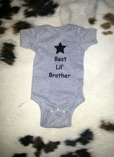 $11.00 Wanted: Navy Blue in any size Best Lil' Bro baby onesie cute funny baby bodysuit boy funny sayings gift idea customize it