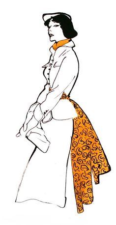 Fashion Illustration by René Gruau Fashion Sketchbook, Fashion Sketches, Fashion Drawings, Moda Fashion, Fashion Art, Fashion Design, Fashion Illustration Vintage, Illustration Art, Fashion Illustrations