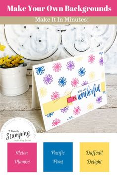 These supplies are perfect for making simple handmade cards for friends. And don't we all need to send more cards! Make Your Own Background, Creative Background, Handmade Cards For Friends, Greeting Cards Handmade, Ink Pads, Free Paper, Diy Cards, Thank You Cards, Stamping