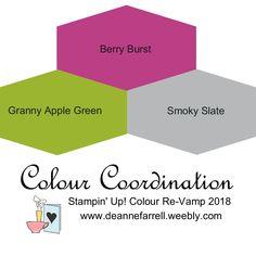 Berry Burst Colour Combo – Colour Inspiration Stampin' Up! Colour Re-Vamp 2018 Berry Burst Colour Combo – Colour Inspiration Stampin' Up! Colour Re-Vamp 2018 Color Combo Inspiration Colour Pallete, Colour Combo, Color Palettes, Stampin Up, Yarn Color Combinations, Color Schemes, Colours That Go Together, Color Palette Challenge, Collor