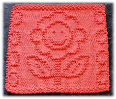 Ravelry: Little Miss Happy Flower Dishcloth pattern by Rachel van Schie
