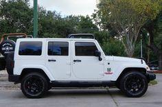 The Almighty Popular All White Jeep Wrangler Sahara! Fully Loaded!