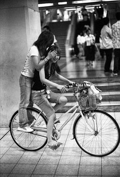 Two Girls on a Bike: Okubo JR Station