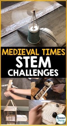 Contains 11 StudentSavvy STEM Resources STEM Challenges! Middle Ages History, High Middle Ages, Middle Age Hair, Middle Ages Clothing, Medieval Crafts, Medieval Recipes, Middle Age Fashion, Scientific Revolution, Medieval Times
