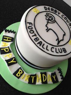 Twitter / kellyemmaellis: Derby county football cake!! ... 50th Birthday, Birthday Cakes, Football Cakes, Rectangle Cake, Sport Cakes, Derby County, Cake Logo, Starbucks Recipes, Square Cakes
