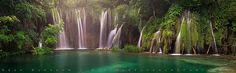 Plitvice Waterfalls Panorama