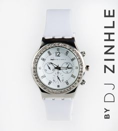 Every girl deserves the perfect white watch! From the ERA by DJ Zinhle range. Dj, Warm, Watches, Silver, Stuff To Buy, Accessories, Women, Wristwatches, Clocks