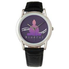 """Mindful"" Beautiful Buddha. Wrist Watch - accessories accessory gift idea stylish unique custom"
