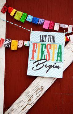"""FREE """"Let the Fiesta Begin"""" Cinco de Mayo Printable"""