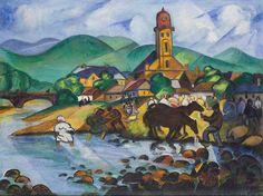 File:Tibor Boromisza - Fair at Baia Mare 72x95 oil on canvas 1914.jpg