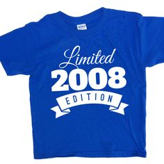Items Similar To 8 Year Old Birthday Shirt 2008 Kids Limited Edition 8th Party Years Youth Celebration WeeZeesTees