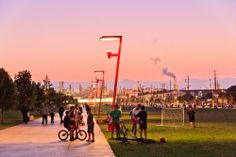 AECCafe.com - ArchShowcase - Wilmington Waterfront Park in Los Angeles, California by Sasaki Associates, Inc.