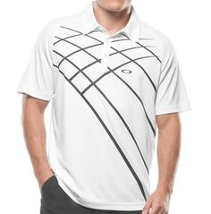 Oakley Grid Golf Shirt White