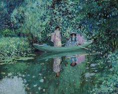 Grey Day on the River Frederick Carl Frieseke (1874-1939)