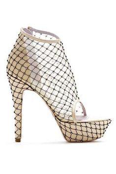 Crystallized Mesh Stilettos