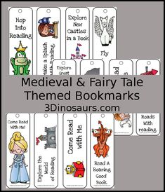 Fun Medieval & Fairytale Themed Bookmarks For kids