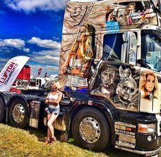 ..... Customised Trucks, Custom Trucks, Show Trucks, Big Rig Trucks, Trucks And Girls, Car Girls, Transportation Logo, Classic Tractor, Custom Paint