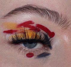 aesthetic makeup Image about art in ocean eyes by malak on We Heart It Makeup Goals, Makeup Inspo, Makeup Inspiration, Beauty Makeup, Cute Makeup, Pretty Makeup, Crazy Makeup, Make Up Art, How To Make