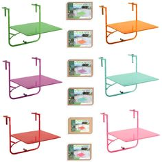 NEW-ADJUSTABLE-GARDEN-PATIO-BALCONY-FOLDING-WALL-HANGING-BBQ-TABLE-BENCH-SHELF