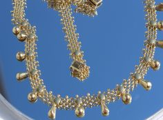 14 kt gouden antieke collier ketting 18,1 gram