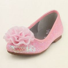 sparkle flower ballet flat...adorable flower girl shoes