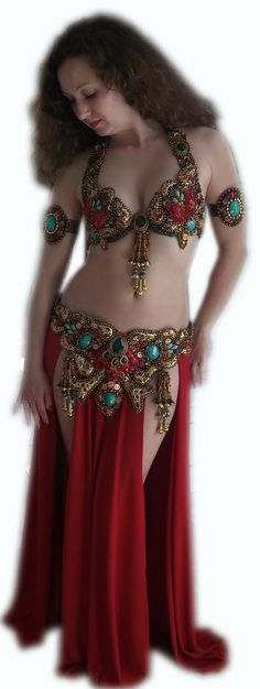 Apsara belly dance costume belly dance outfit by Raya83 on Etsy, $550.00