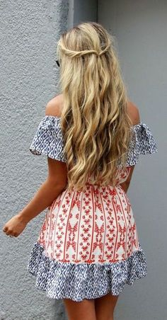 #summer #fashion / pattern print dress