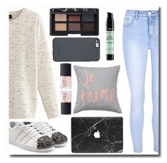 """""""Je t'aime Adidas"""" by sweetcheeksgurl8 ❤ liked on Polyvore featuring Glamorous, Nolita, adidas Originals, NARS Cosmetics, OtterBox, L'Oréal Paris, Fall, adidas, NARS and 2016"""