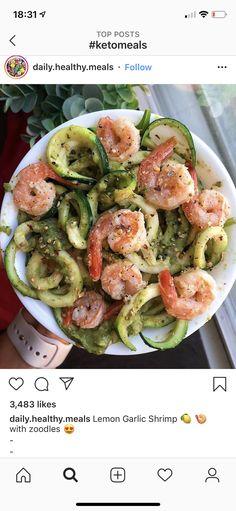 Lemon Garlic Shrimp, Potato Salad, Keto Recipes, Potatoes, Ethnic Recipes, Food, Potato, Meals, Yemek