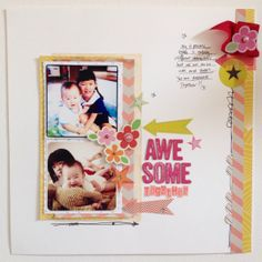 #papercraft #scrapbook #layout  Awesome Together by Bunnypower at @Studio_Calico