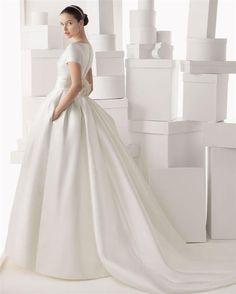 2015 Saten Gelinlik Modelleri /31 - Moda -