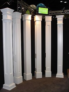 architectural pvc porch columns, this would fit over existing columns. architectural pvc porch columns, this would fit over existing columns. Architecture Renovation, Architecture Details, House With Porch, House Front, Front Porch Columns, Front Porch Posts, Front Porches, Interior Columns, Architectural Columns