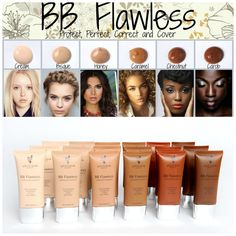 Younique BB Flawless Cream. This multitasking cream moisturizes, perfects, protects, and works beautifully as a lightweight foundation on its own. It provides a flawless appearance and fights shine to give a natural-looking matte finish. Consider it your skin's new best friend. www.BeBoldBeauty.com