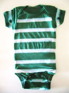 Striped Onesie Tutorial - HoneyBear Lane. Dyed with Rit Dye.