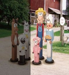 19-W2535 - Post Farm Folk Woodworking Plan