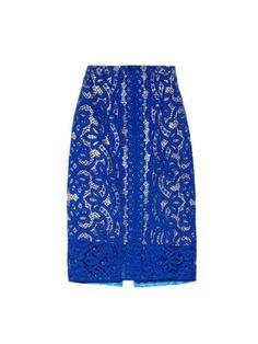 Poppy macramé lace pencil skirt  | Lover | MATCHESFASHION.COM UK