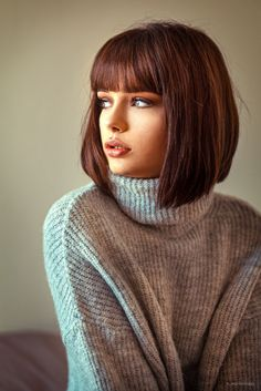 Short Bob Hairstyles, Hairstyles With Bangs, Cool Hairstyles, Haircuts, Short Hair With Bangs, Short Hair Cuts, Medium Hair Styles, Curly Hair Styles, Haircut And Color