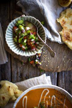 Vegan Curry-Tomaten-Suppe Rezept mit @LoveMySilk auf @beardandbonnet #LoveMySilk