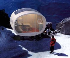 The LEAP (Living Ecological Alpine Pod) are prefabricated modular structures created to resist the extremes of high altitudes and designed to accommodate mountain trekkers with comfortable interiors that can include eco-friendly bathrooms, kitchen, sleeping bunks and photovoltaic energy.